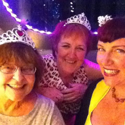 """Bridget Eileen with mom and friends at Buffa's Back Room """"Tacos, Tequila and Tiaras"""" in New Orleans"""