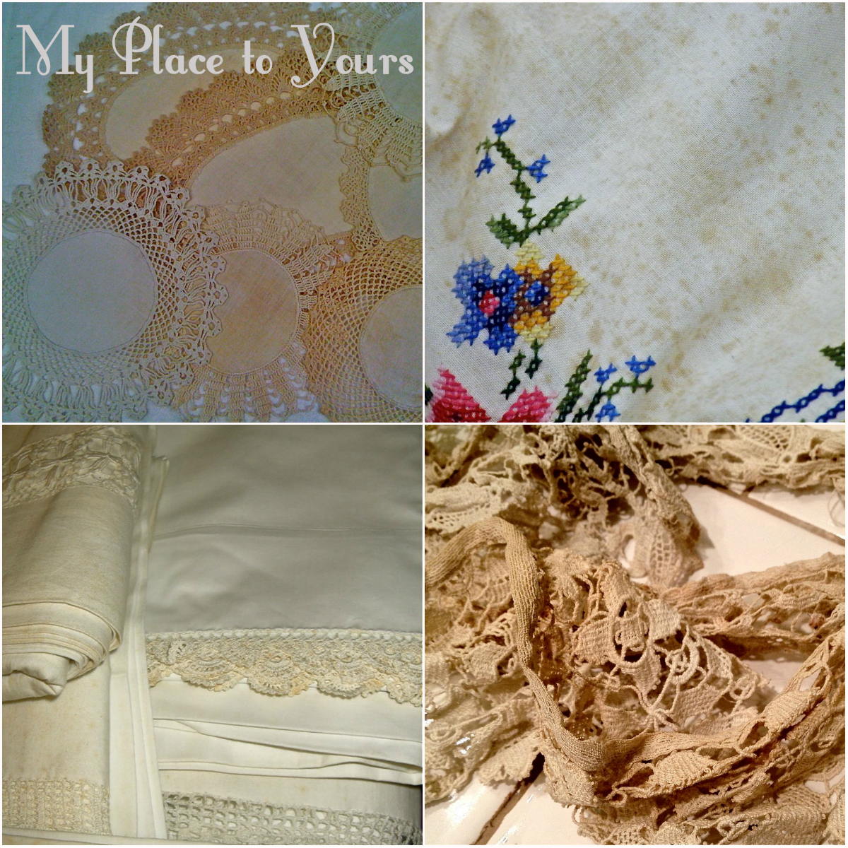 Storage Stain Removal How To Care For Vintage Linens Lace - How To Remove Old White Heat Stains From Tablecloths