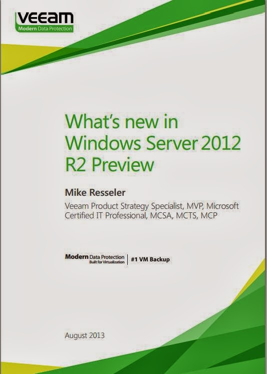 Free E-book from Veeam Backup - What's new in Windows Server