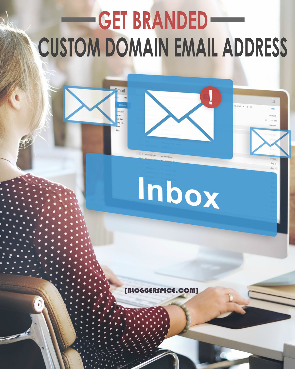 custom domain email for blogger