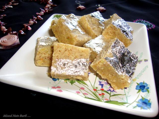 images of Mixed Nuts Burfi / Nuts Burfi Recipe - Healthy Burfi Recipe