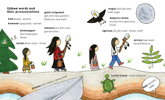 Ojibwe Glossary & Pronunciations from The Water Walker by Joanne Robertson