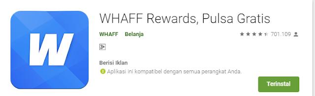 Mendapatkan Pulsa Gratis dengan Whaff Rewards