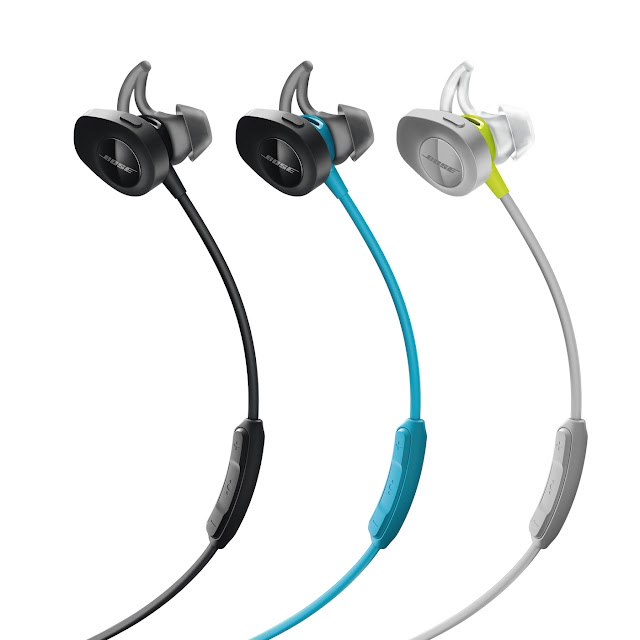 Bose SoundSport Wireless - Black / Aqua / Citron