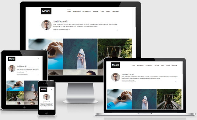 Monal Portfolio And Personal Responsive Blogger Templates