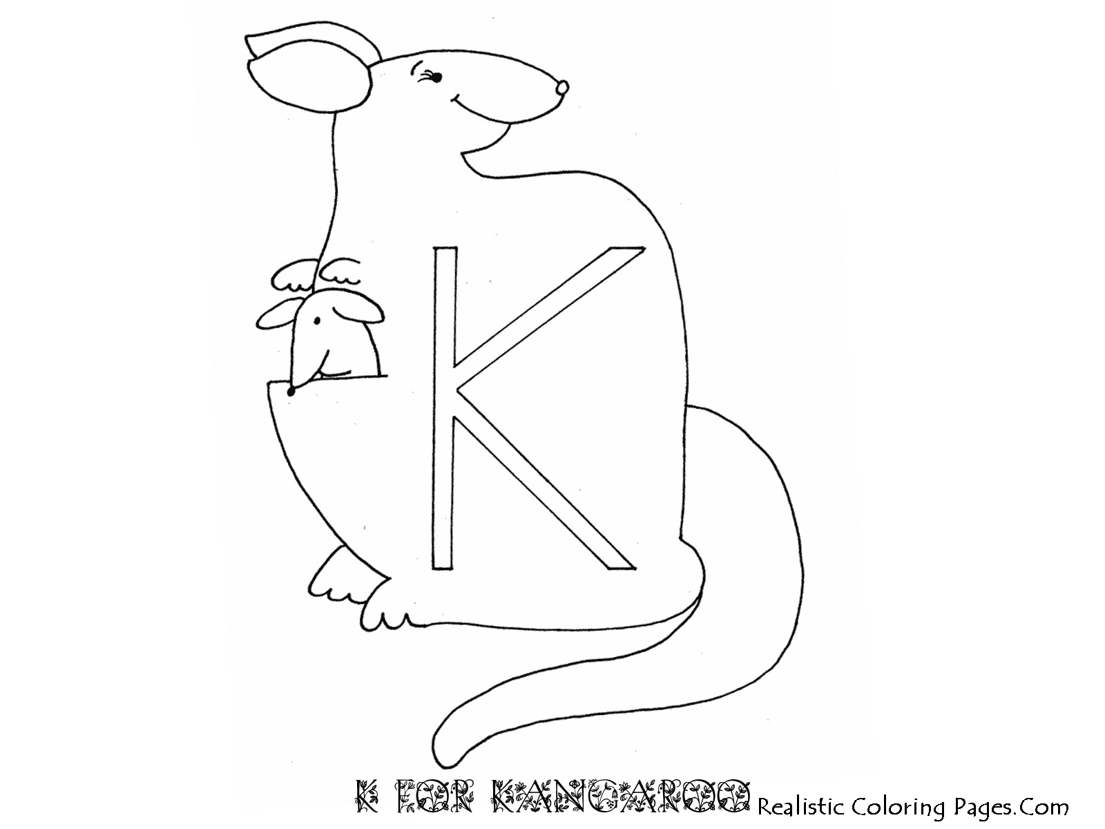 K Letters Alphabet Coloring Pages