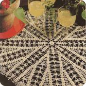 "Tapete redondo ""Abanicos"" a Crochet"