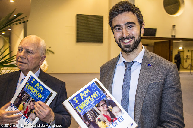 Mark Eyskens and Pietro De Matteis -  Stand Up For Europe - Parlement européen - Photo by Ben Heine