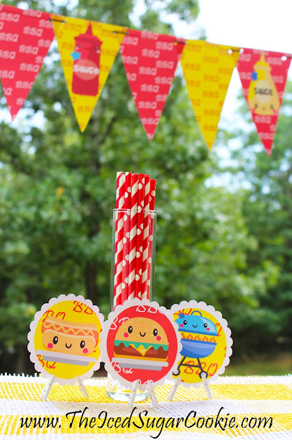 BBQ Birthday Party Printables by The Iced Sugar Cookie