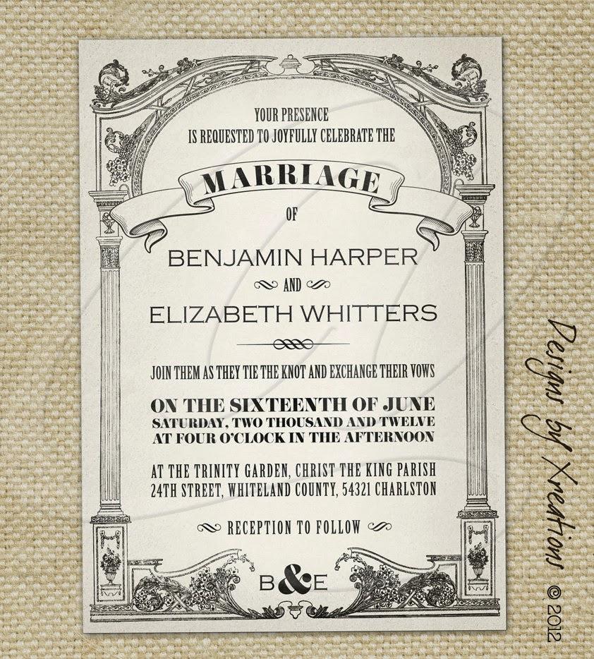Pink Wedding Invitations: Vintage Wedding Invitations