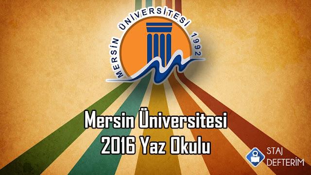 Mersin Üniversitesi 2016 Yaz Okulu