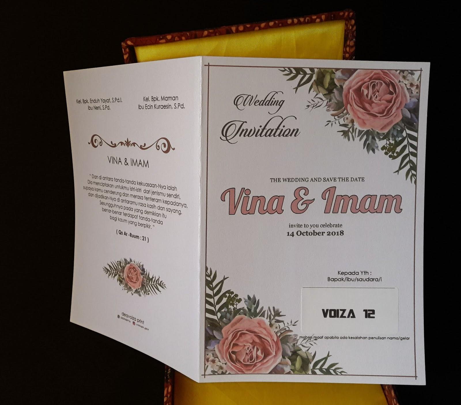 Undangan Pernikahan Vintage Pakai Kertas Mewah Kertas Jasmine