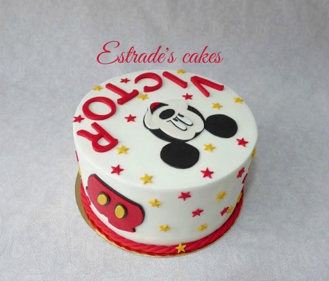 Tarta de Mickey Mousse para cumpleaños 4