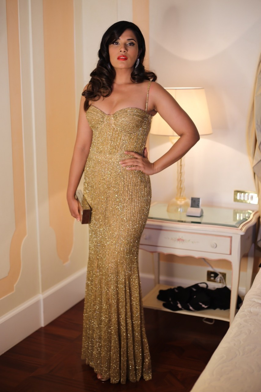 Richa Chadha Goes Golden Glam for Venice International Film Festival
