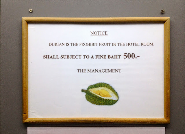 Having Durian in hotels are illegal