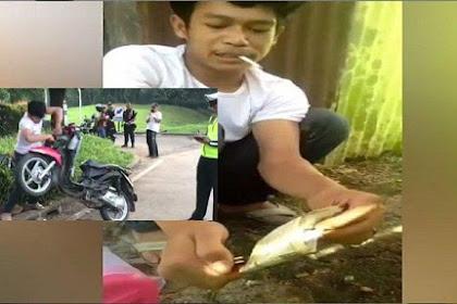 Sempat Viral Karena Rusak Motornya Saat Ditilang, Pria Ini Kini Bakar STNK, Lihat Videonya!