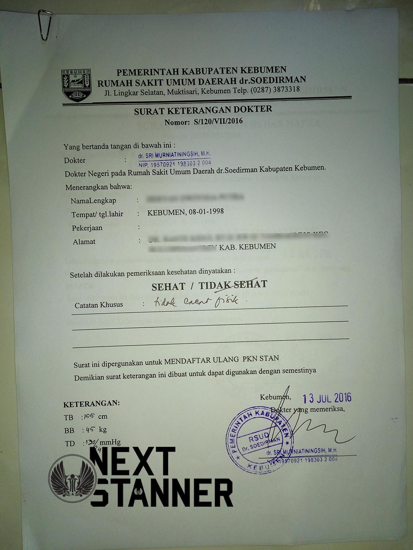 Next Stanner Membuat Surat Keterangan Sehat Di Rsud Dr