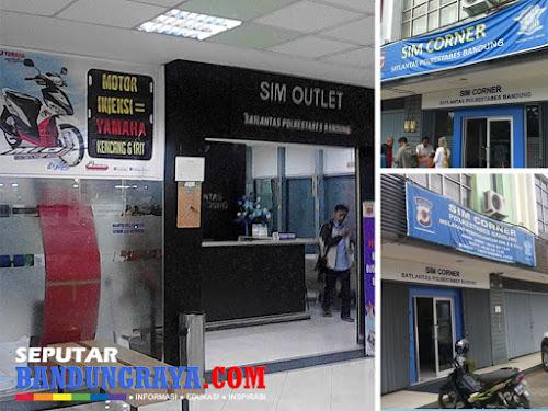 SIM Outlet dan SIM Corner Polrestabes Bandung