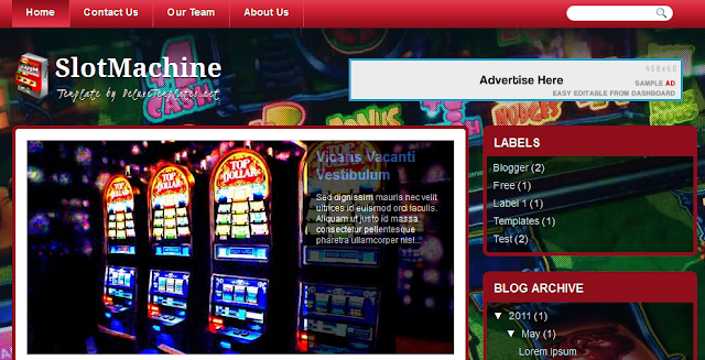 Vegas Casino Blogger Template