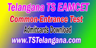 Telangana TS EAMCET TSEAMCET 2017 Admitcards Download