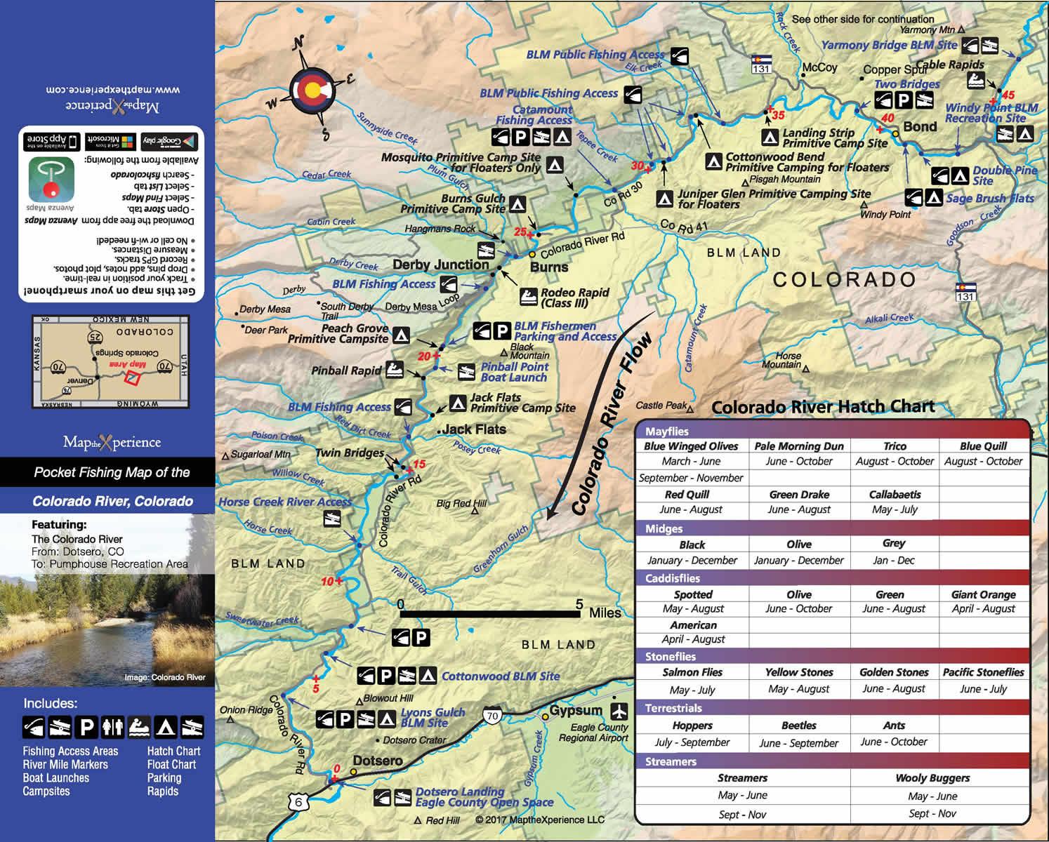 Colorado River Public Access Map Fishing Map Colorado