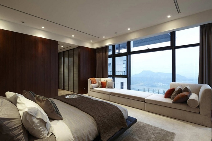 Bedroom in Modern apartment in Shenzhen by Kokai Studio