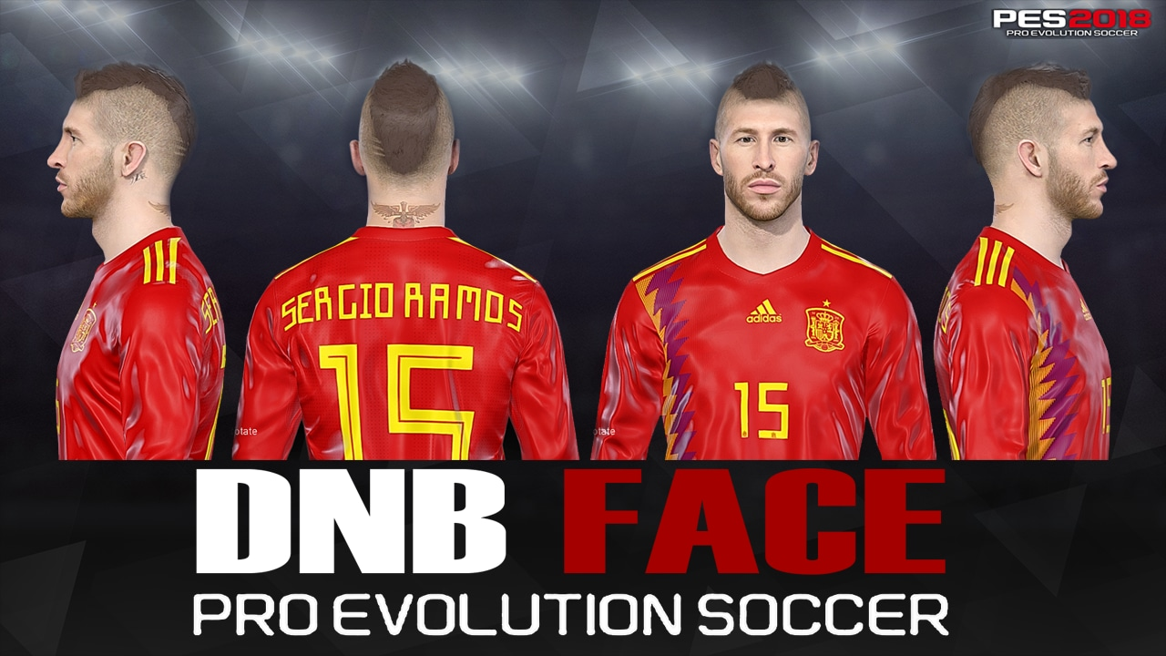 PES 2018 S. Ramos Fix Face by DNB FACE