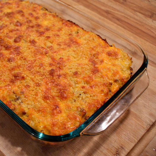 Cheesy Beef & Butternut Squash Pasta Bake by The Two Bite Club