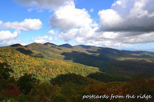 Fall colors at the Blue Ridge Parkway, North Carolina