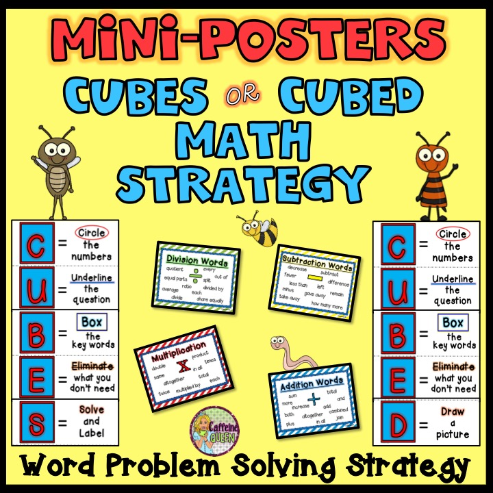 Struggling with word problems? CUBES/CUBED to the Rescue! - Caffeine ...
