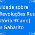 Atividade sobre As Revoluções Russas (História 9º ano) com Gabarito