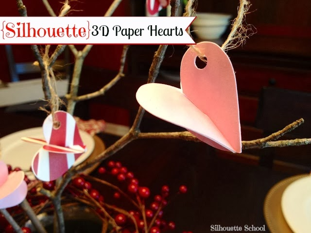 Silhouette, Silhouette project, valentine's day, project idea, paper hearts