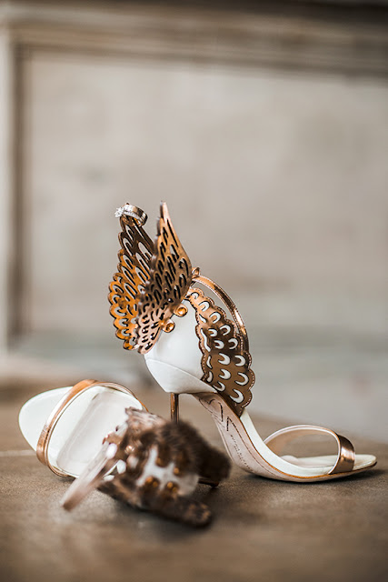 Brandy and Armando SF City Hall Wedding | Sophia Webster Chiara Butterfly Flys