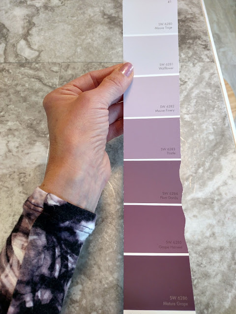 sherwin williams mauve paint samples