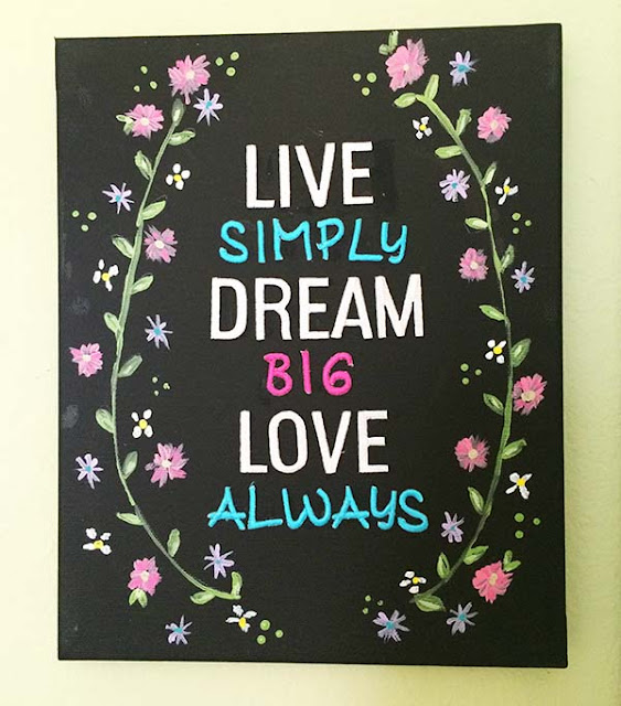 live simply dream big wallhanging