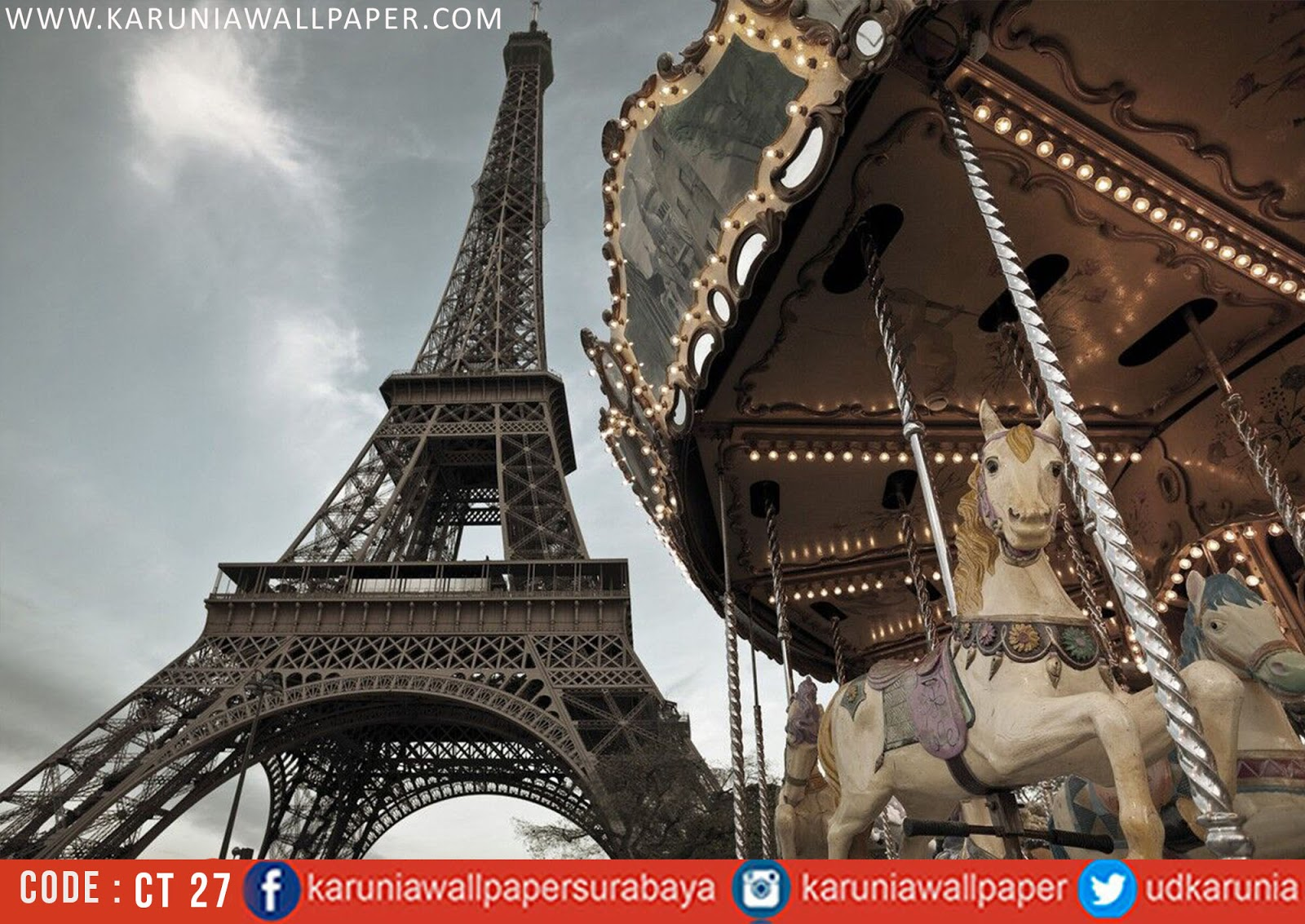 jual photowall wallpaper kota paris
