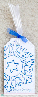 Snowflake Tag - photo by Deborah Frings - Deborah's Gems