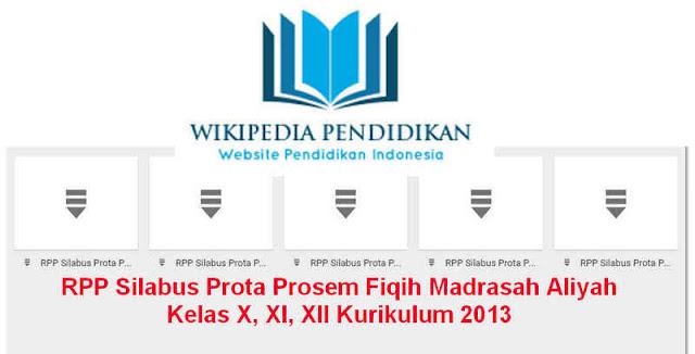 RPP Silabus Prota Prosem Fiqih Madrasah Aliyah Kelas X, XI, XII Kurikulum 2013