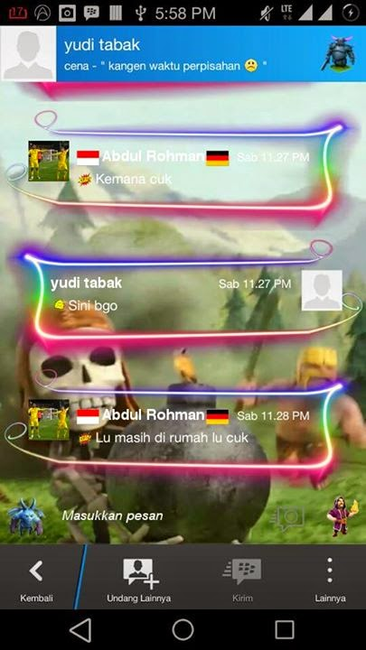 Download BBM Mod Android Themes Clash of Clans Version 2.0.6.30