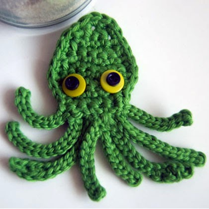 Free Crochet Pattern: Kraken Octopus Squid Applique