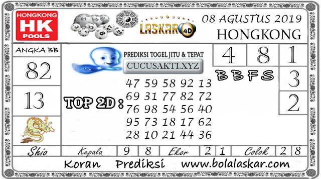 Prediksi Togel HONGKONG LASKAR4D 08 AGUSTUS 2019