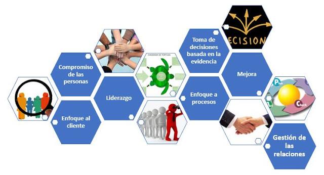 Lectura y entendimiento de los 7 principios de la Gestión de la Calidad en base a la ISO 9001:2015