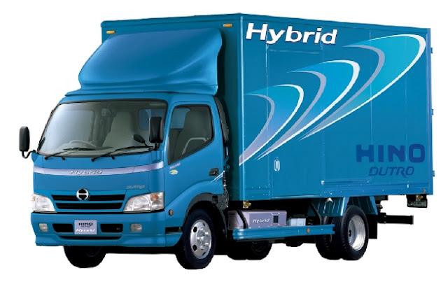 contoh truk hino hybrid dutro terbaru