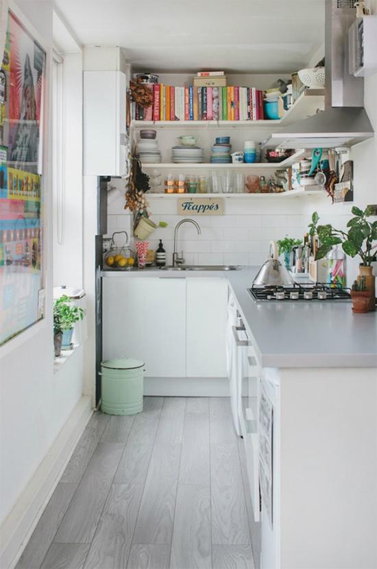 cozinha americana, balcao na cozinha, cozinha integrada, cozinha pequena, cozinha com prateleiras