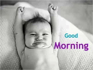funny good morning image of lazy baby