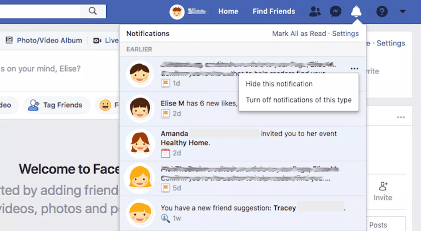 Choose What You're Notified About on Facebook