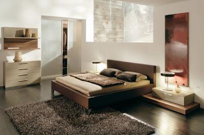 habitación diseñada con colores cálidos y sobrios