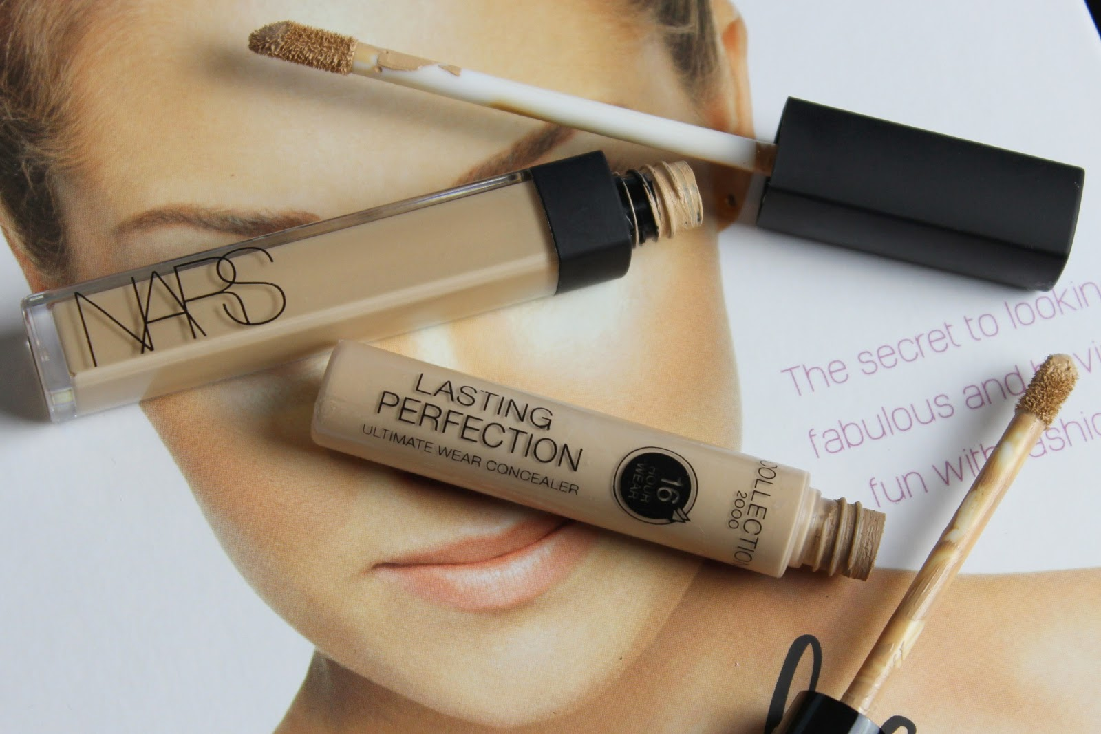 Nars Radiant Creamy Concealer  in Custard and Collection Lasting Perfection Concealer in Medium