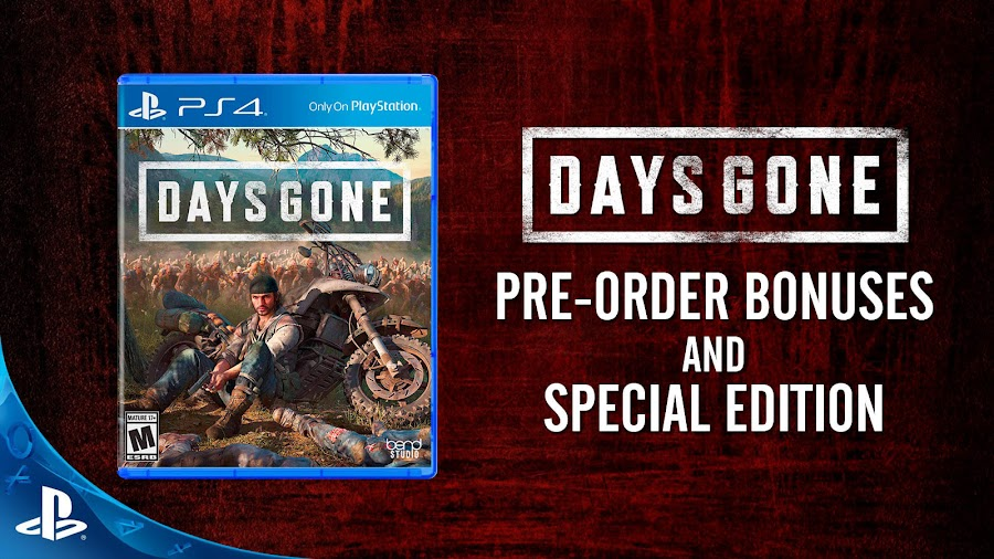 days gone ps4 collectors edition pre order bonus sony