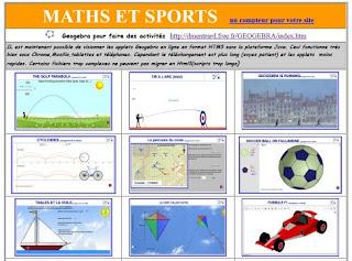 http://dmentrard.free.fr/GEOGEBRA/Maths/mathsport/mathsport.html